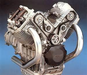 Moto Guzzi V-twin Cut-away View