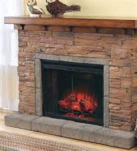 stacked slate  floating mantel fireplace ideas