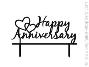 60th anniversary cake topper quot happy anniversary quot black wedding anniversary cake