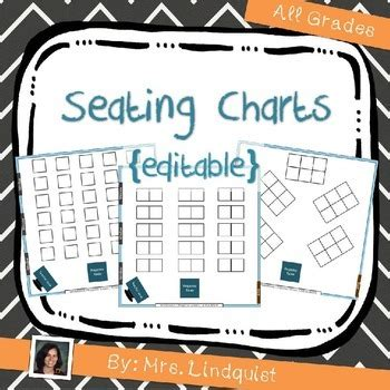 seating charts editable   school