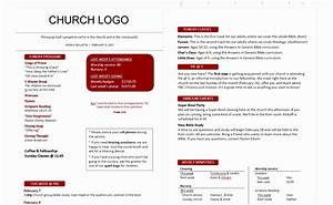 12 church bulletin template microsoft word oinwy for Church bulletin template microsoft word