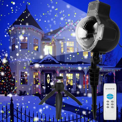 christmas falling snow projectors zjright snowflake projector white led stage light outdoor birthday