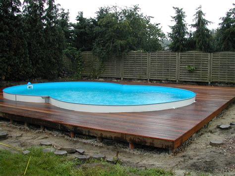 Pool Mit Holzterrasse by Frame Pool Mit Bambusmatten Verkleiden Geht Ganz Einfach Und