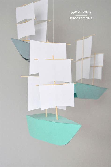 diy paper boat decorations
