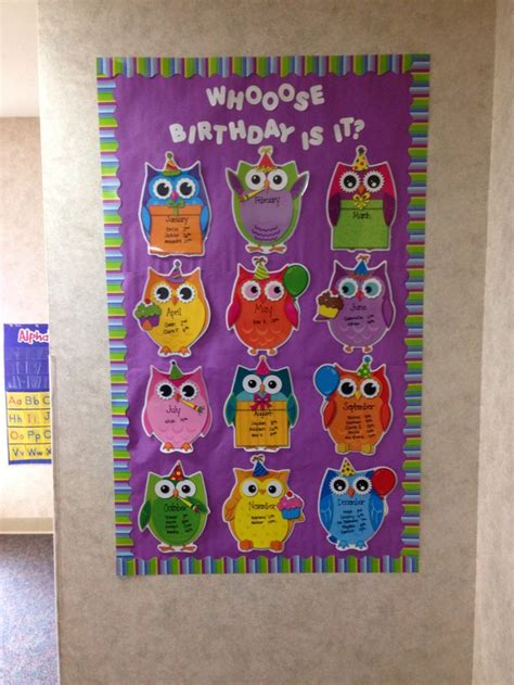 birthday bulletin board ideas for preschool birthday bulletin board owl classroom prek 785