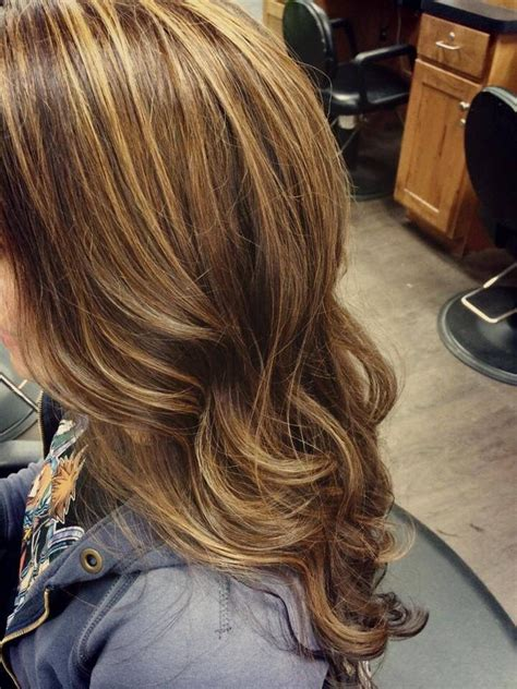 light brown hair with caramel highlights brown hair with caramel highlights long hair curls beauty