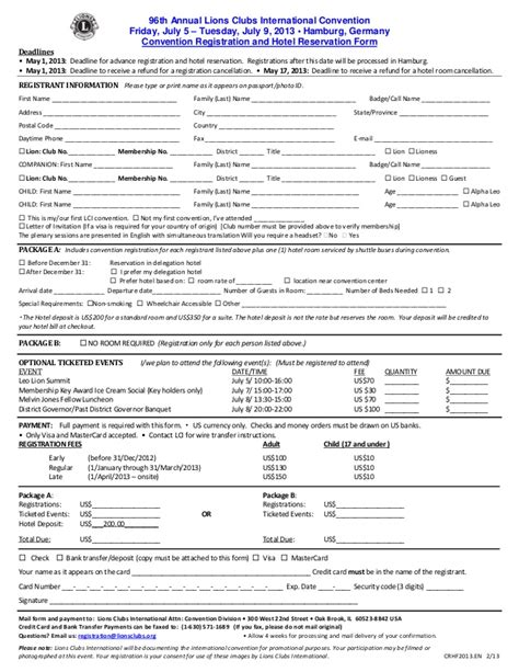 apha registration form lions club international convention registration form