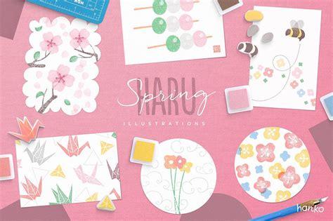 haru spring hanko collection japanese stamp japanese