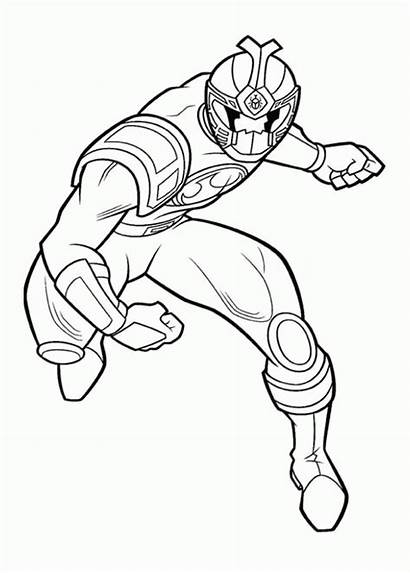 Coloring Rangers Power Pages Jungle Fury Printable