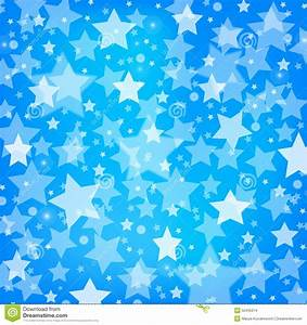 Vector Abstract Blue Background With Glitter Stars Stock ...