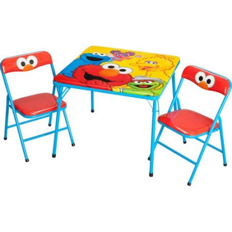 childrens folding table and chairs walmart sesame activity table and chairs set walmart