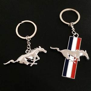 New Zinc Alloy Mustang Car Logo Keychain For Ford Mustang Chaveiro Keyring Sport Key chain ring ...