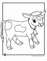 Cow Coloring Pages Baby Animal Cows Animals Farm Herd Dairy Jr Animaljr Cute Colouring Shower Sheet Printables Printable Colors Sheets sketch template