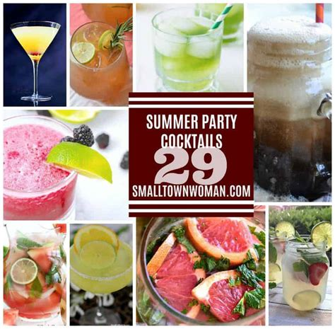 29 Summer Party Cocktail Recipes  Small Town Woman