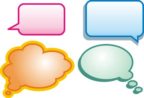 conversation baloon template free vector graphic cloud balloons balloon free image