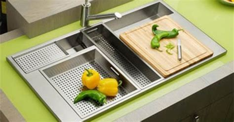 Elkay sink with integrated cutting board   Kitchen