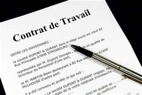 contrat de travail cadre dirigeant les contrats de travail g 233 n 233 ralit 233 s