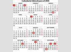 Calendario laboral 2018 Empleo