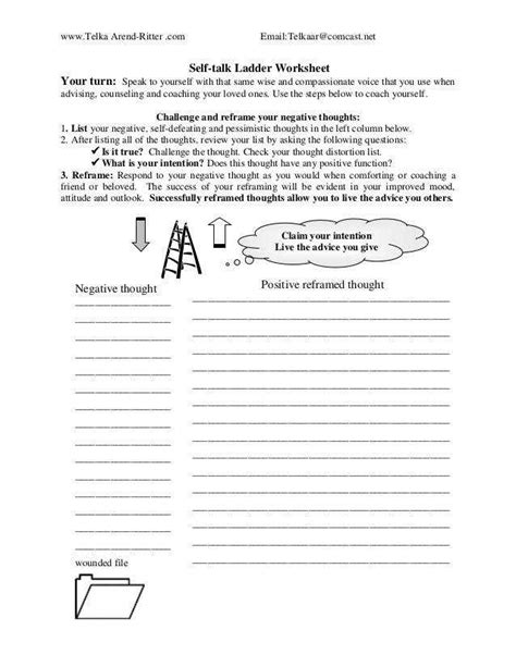 positive  talk worksheet homeschooldressagecom