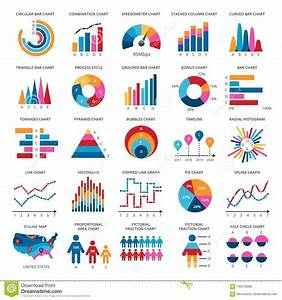 Color Finance Data Chart Vector Icons  Statistics Colorful