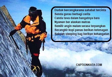 puisi pendaki cantik indonesia kata kata romantis mendaki gunung captionkatacom