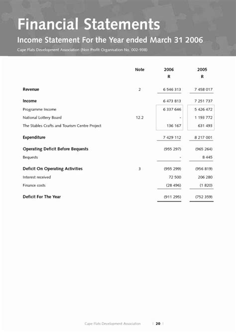 luxury  profit financial statement template