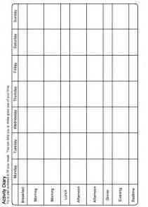 Activity Scheduling Worksheet