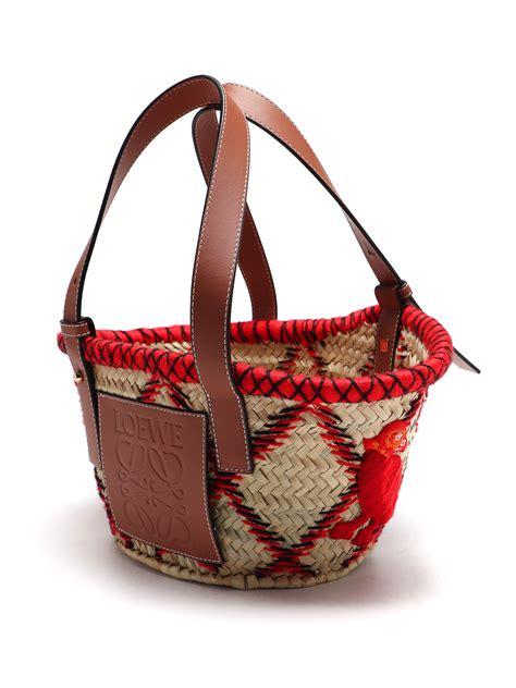 Loewe - Basket Animals small straw tote bag - totes bags ...