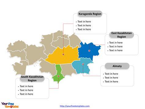 kazakhstan editable map  powerpoint templates