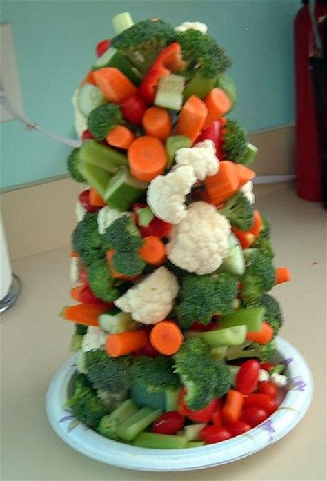 veggie christmas tree appetizer appetizers and snacks