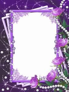 Transparent Purple Flower Frame | Gallery Yopriceville ...