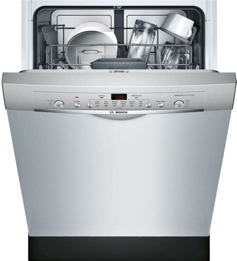 two dishwashers one bosch she3ar75uc 24 inch full console dishwasher with 24 7