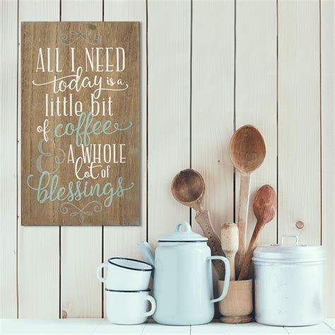 Kitchen Wall Organization Ideas - stratton home decor stratton home decor coffee and blessings decorative sign shd0254 the home