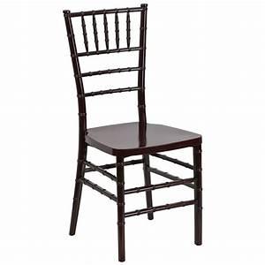 Mahogany Style Chiavari Chair in Resin Material - Banquet King