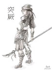 Female Warrior Drawings