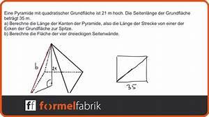 Masse Berechnen : pythagoras fehlende gr en in der pyramide berechnen mantelfl che youtube ~ Themetempest.com Abrechnung