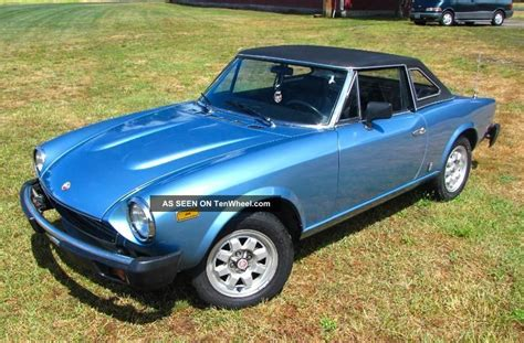Fiat Spider Hardtop by 1981 Fiat Spider 2000 Pininfarina Hardtop Automatic 1 Of 300