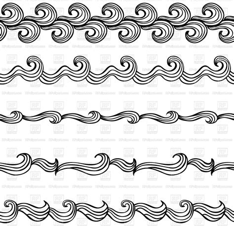 set   illustrated decorative borders vector image