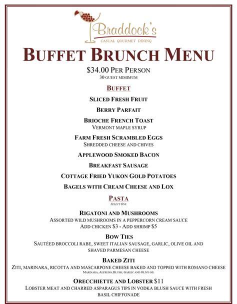 Buffet Brunch - Braddocks