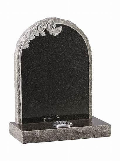 Rustic Headstone Granite Sides Oval Memorials Colours