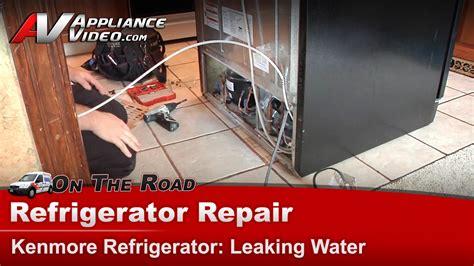kenmore  refrigerator diagnostic  repair leaking water drain tube appliance video