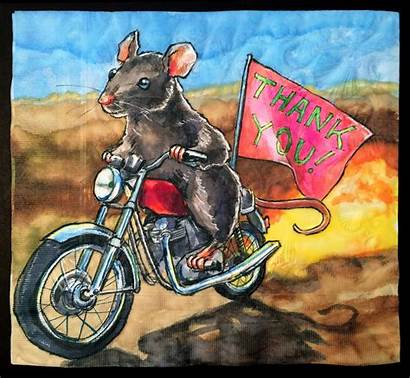 Motorcycle Mouse Thank Note Napkins Daily