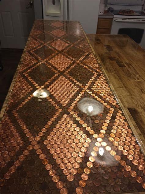 penny countertop epoxy table top table top design