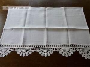 Leinen Gardine Mit Häkelspitze : gardine aus feinem leinen mit h kelspitze wei 67 x 43 cm zum clipsen ~ Orissabook.com Haus und Dekorationen