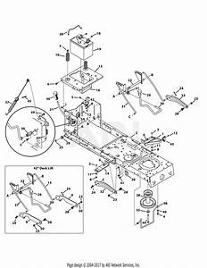 Mtd 13w277ss031 Lt 4200  2015  Parts Diagram For Frame  U0026 Pto Lift