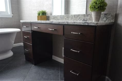 master bathroom vanity makeup area transitional
