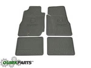 2006 2011 dodge dakota crew cab slush all weather rubber floor mats set mopar oe ebay