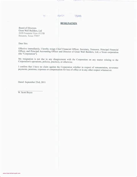 templates  resignation letters payment format