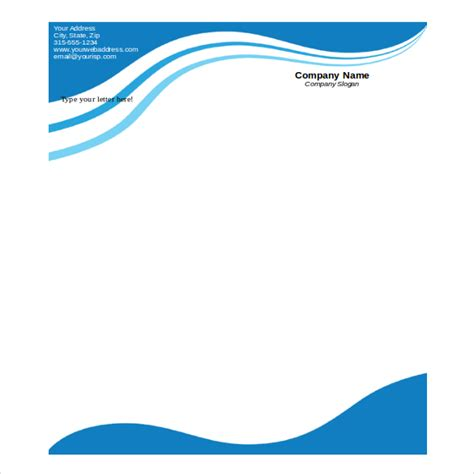 company letterhead format  word format  printable