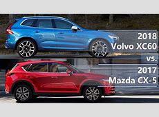 2018 Volvo XC60 vs 2017 Mazda CX5 technical comparison